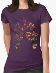 Lungs - Flowers  Womens Fitted T-Shirt