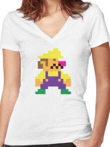 Wario Women's Fitted V-Neck T-Shirt
