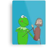 Henson and Kermit Metal Print
