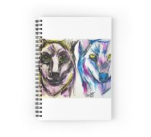 Pandora Fox Art Acid Wolves Spiral Notebook