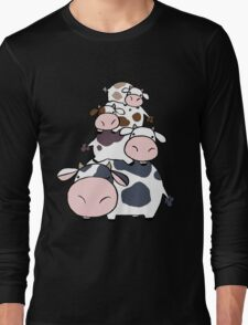 Cow Stack Long Sleeve T-Shirt