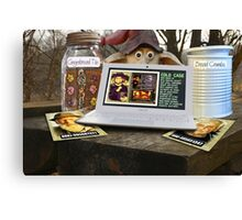 Deep Woods Informant on Oven Homicide Canvas Print
