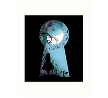 Alice - Through the Keyhole Art Print