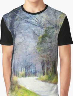 Country Road Through Forest Graphic T-Shirt