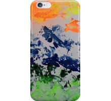 Sun over snow clad mountains iPhone Case/Skin