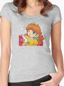 Princess Daisy - Blow Kiss Women's Fitted Scoop T-Shirt