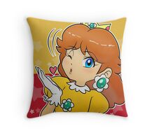 Princess Daisy - Blow Kiss Throw Pillow