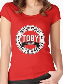 Toby Clements 'British Is Best' Artwork #4 Women's Fitted Scoop T-Shirt