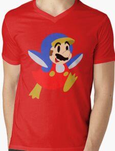 Little Penguin Mario Mens V-Neck T-Shirt