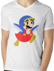 Little Penguin Mario Mens V-Neck T-Shirt