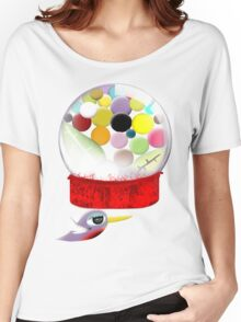 Too sweet candy bubble gum bird old style  Women's Relaxed Fit T-Shirt