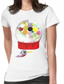 Too sweet candy bubble gum bird old style  Womens Fitted T-Shirt