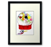 Too sweet candy bubble gum bird old style  Framed Print