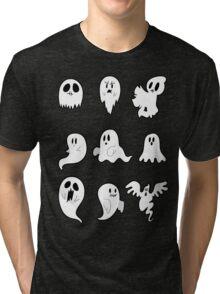 Nine Cute Little Ghosts Tri-blend T-Shirt