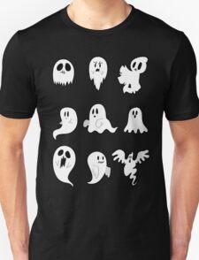 Nine Cute Little Ghosts Unisex T-Shirt