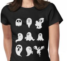 Nine Cute Little Ghosts Womens Fitted T-Shirt