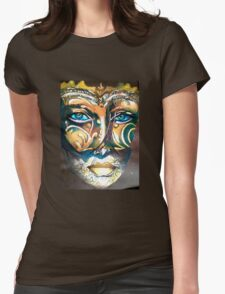 Look behind the mask Womens Fitted T-Shirt