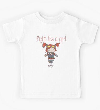 Fight Like a Girl   Robot Maker Kids Tee