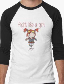 Fight Like a Girl | Robot Maker Men's Baseball ¾ T-Shirt