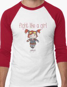 Fight Like a Girl   Robot Maker Men's Baseball ¾ T-Shirt