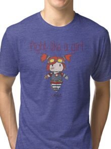 Fight Like a Girl | Robot Maker Tri-blend T-Shirt