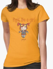 Fight Like a Girl | Robot Maker Womens Fitted T-Shirt