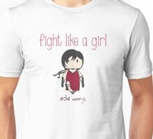 Fight Like a Girl - Zombie Killer Ninja Unisex T-Shirt