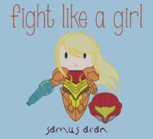 Fight Like a Girl - Intergalatic Bounty Hunter Kids Tee