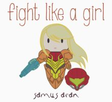 Fight Like a Girl - Intergalatic Bounty Hunter Kids Tee