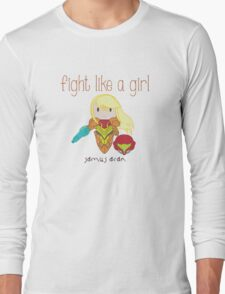 Fight Like a Girl - Intergalatic Bounty Hunter Long Sleeve T-Shirt