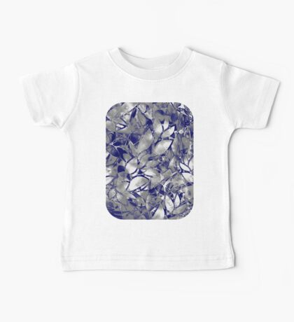 Grunge Art Silver Floral Abstract Baby Tee