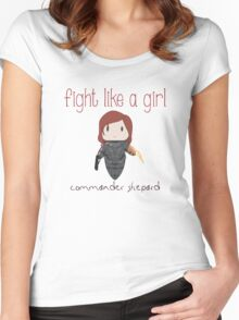 Fight Like a Girl - The Commander Women's Fitted Scoop T-Shirt