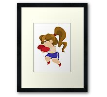 Cute Little Boxer Girl Framed Print
