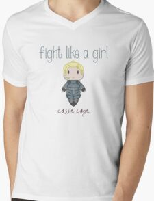 Fight Like a Girl - Daughter of Champions Mens V-Neck T-Shirt