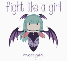 Fight Like a Girl | Demon Girl Kids Tee