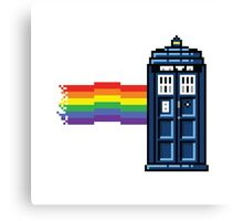 Rainbow Tardis Canvas Print