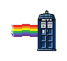 Rainbow Tardis Photographic Print