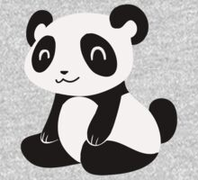 Happy Cartoon Panda Kids Tee