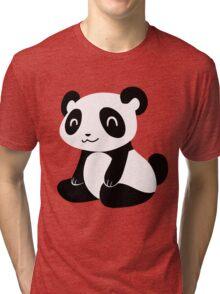 Happy Cartoon Panda Tri-blend T-Shirt