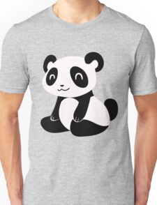 Happy Cartoon Panda Unisex T-Shirt
