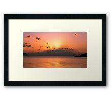 Sunset from Koh Phangan  Framed Print