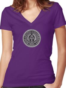 Miskatonic University Women's Fitted V-Neck T-Shirt