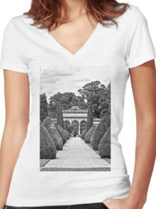 Path to the Orangery  Women's Fitted V-Neck T-Shirt