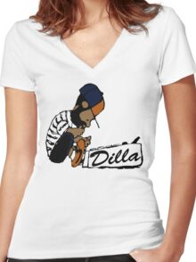 J Dilla - Today In Hip Hop History Women's Fitted V-Neck T-Shirt