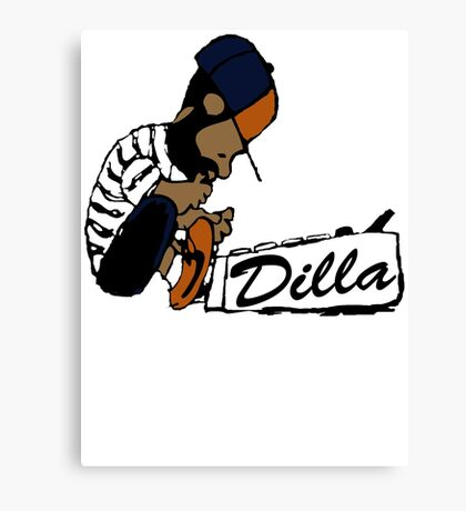 J Dilla - Today In Hip Hop History Canvas Print