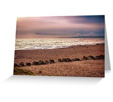 Dusk by the Sea Greeting Card