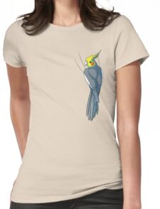 Normal Gray Cockatiel Womens Fitted T-Shirt