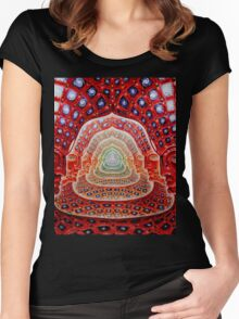 Alex Grey Colourfull 12 Women's Fitted Scoop T-Shirt