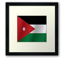 Jordan flag Framed Print