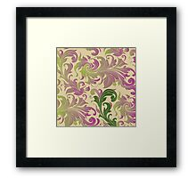 Flowers, ornaments Framed Print
